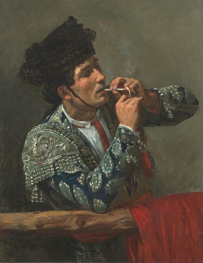 Mary Cassatt Painting - After The Bullfight by Mary Cassatt