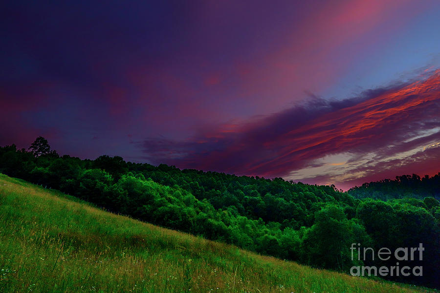 Sunset Photograph - After The Storm Afterglow by Thomas R Fletcher