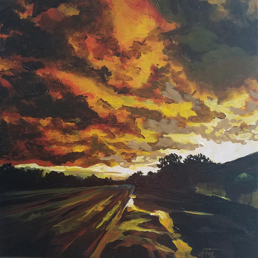 Storm Painting - After The Storm by Allison Fox