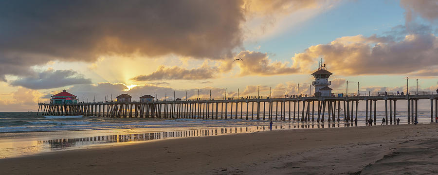After the Storm Huntington Beach by Cliff Wassmann