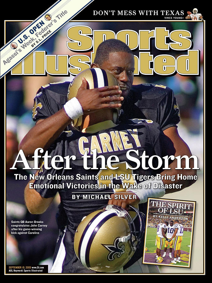 After The Storm The New Orleans Saints And Lsu Tigers Bring Sports Illustrated Cover Photograph by Sports Illustrated