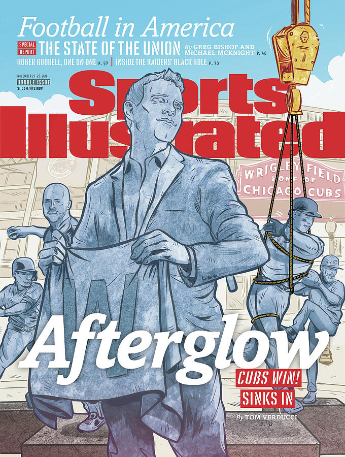 Afterglow Cubs Win Sinks In Sports Illustrated Cover Photograph by Sports Illustrated