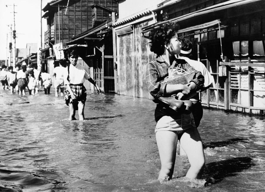 Aftermath Of Typhoon Vera In Tokyo In Photograph by Keystone-france