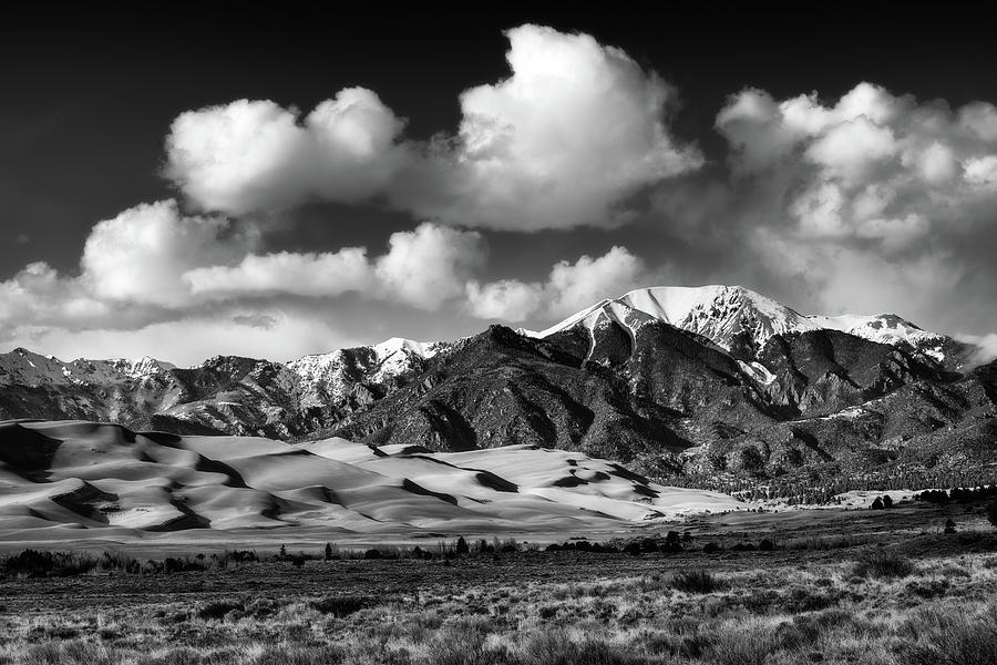 Monochrome Photograph - Afternoon At The Dunes by Darren White
