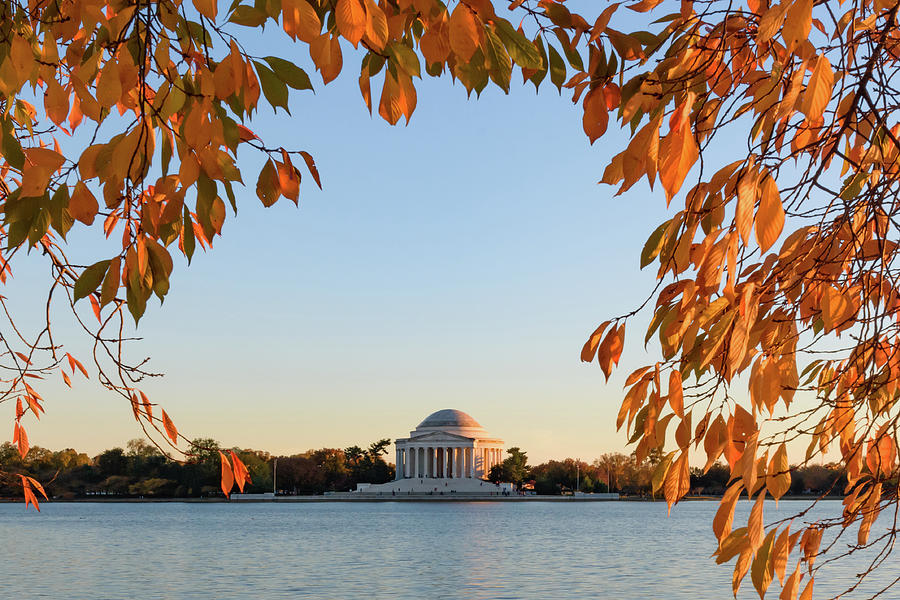 Afternoon Glow At The Jefferson Memorial Photograph