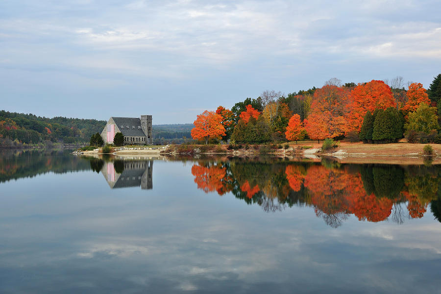 Autumn Photograph - Afternoon Reflection At Wachusett Reservoir by Luke Moore