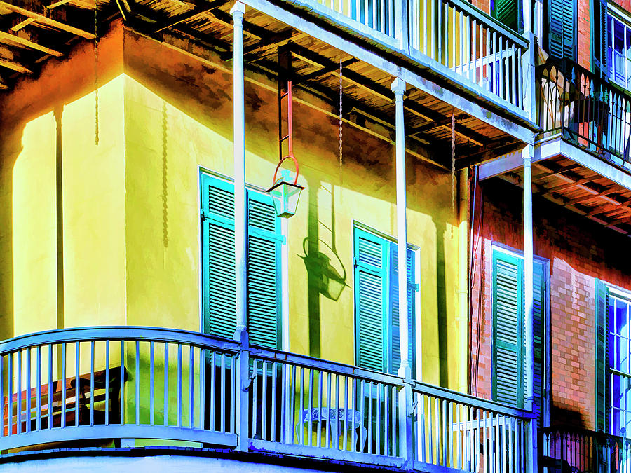 Afternoon Shadows French Quarter by Dominic Piperata