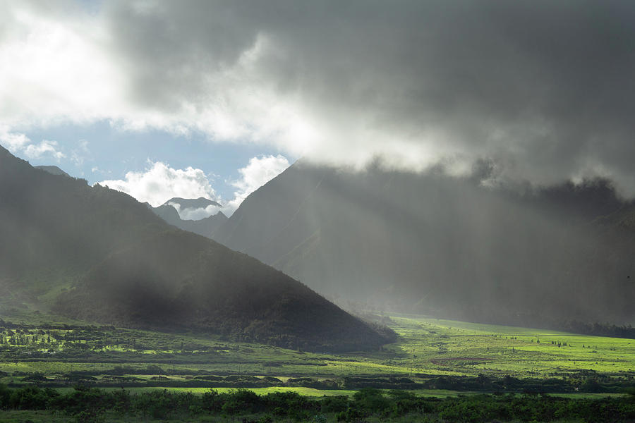 Afternoon Sun on the West Maui Mountains by Marie Leslie