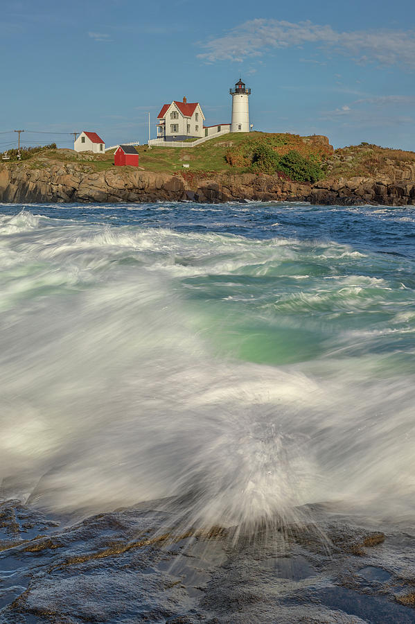 Afternoon Tide at Cape Neddick Lighthouse by Kristen Wilkinson