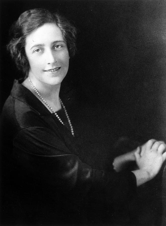Agatha Christie Photograph by Central Press