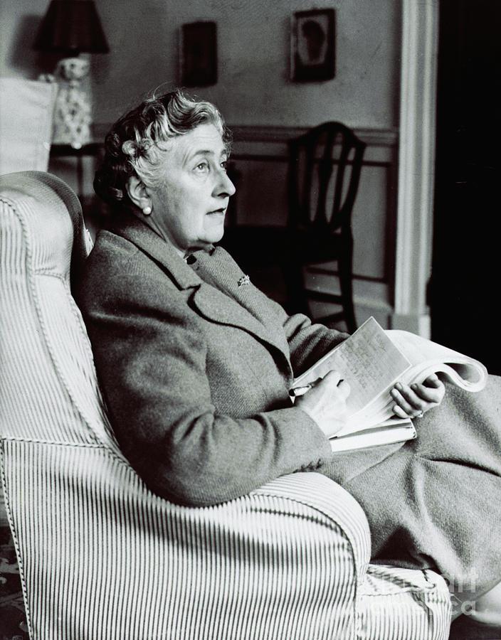 Agatha Christie Seated Photograph by Bettmann