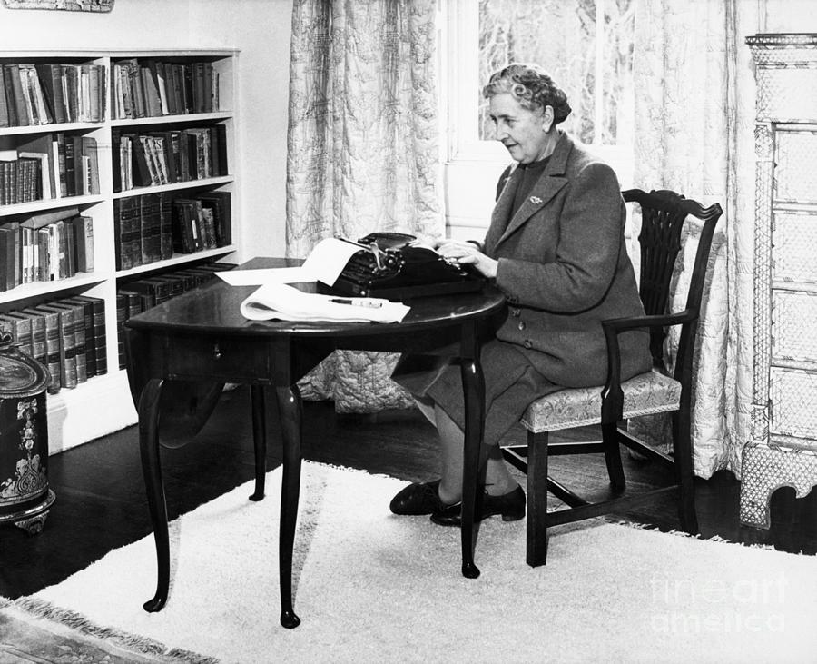 Agatha Christie Typing At Home Photograph by Bettmann