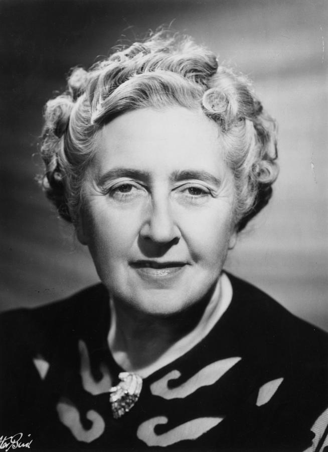 Agatha Christie Photograph by Walter Bird