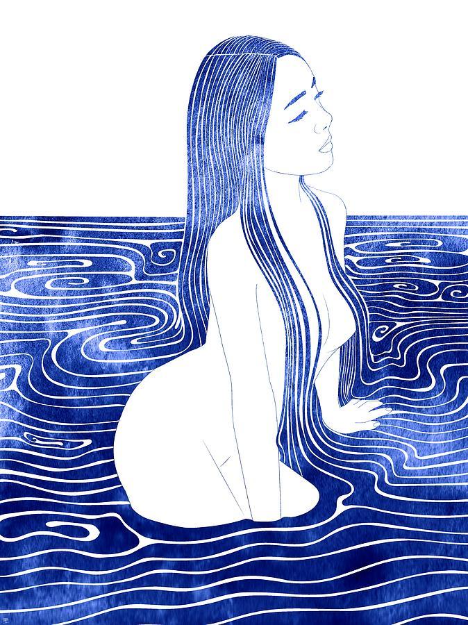 Aqua Mixed Media - Agaue by Stevyn Llewellyn