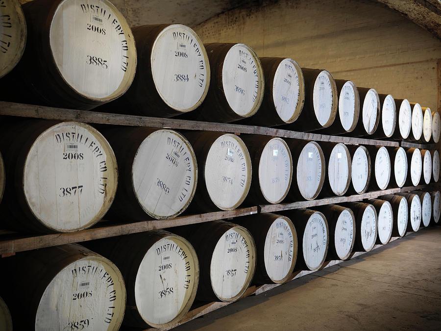 Ageing Whisky Barrels In Distillery Photograph by Monty Rakusen