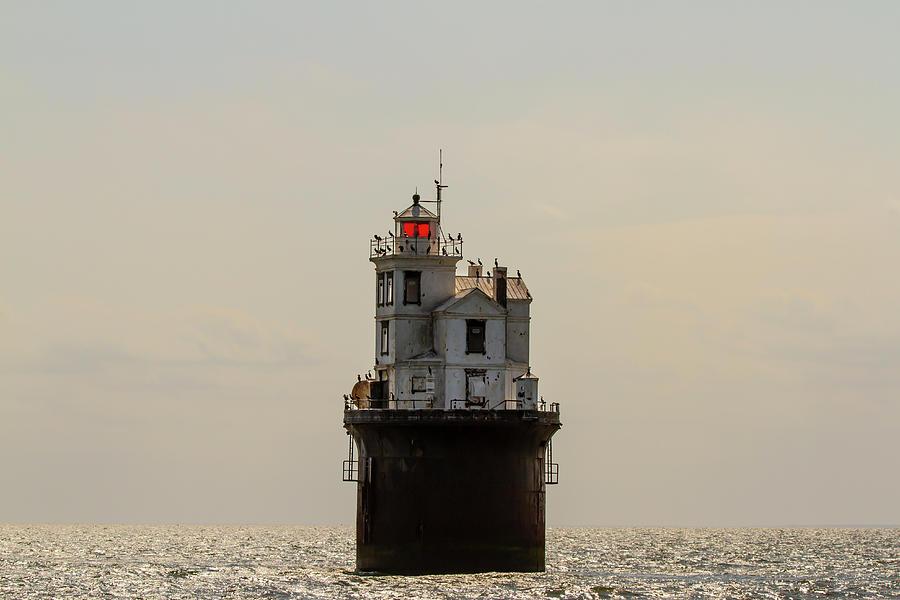 Aging Fourteen Foot Bank Lighthouse by Karen Foley