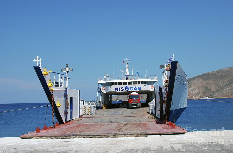 Agios Antonios cargo ship at Tilos by David Fowler