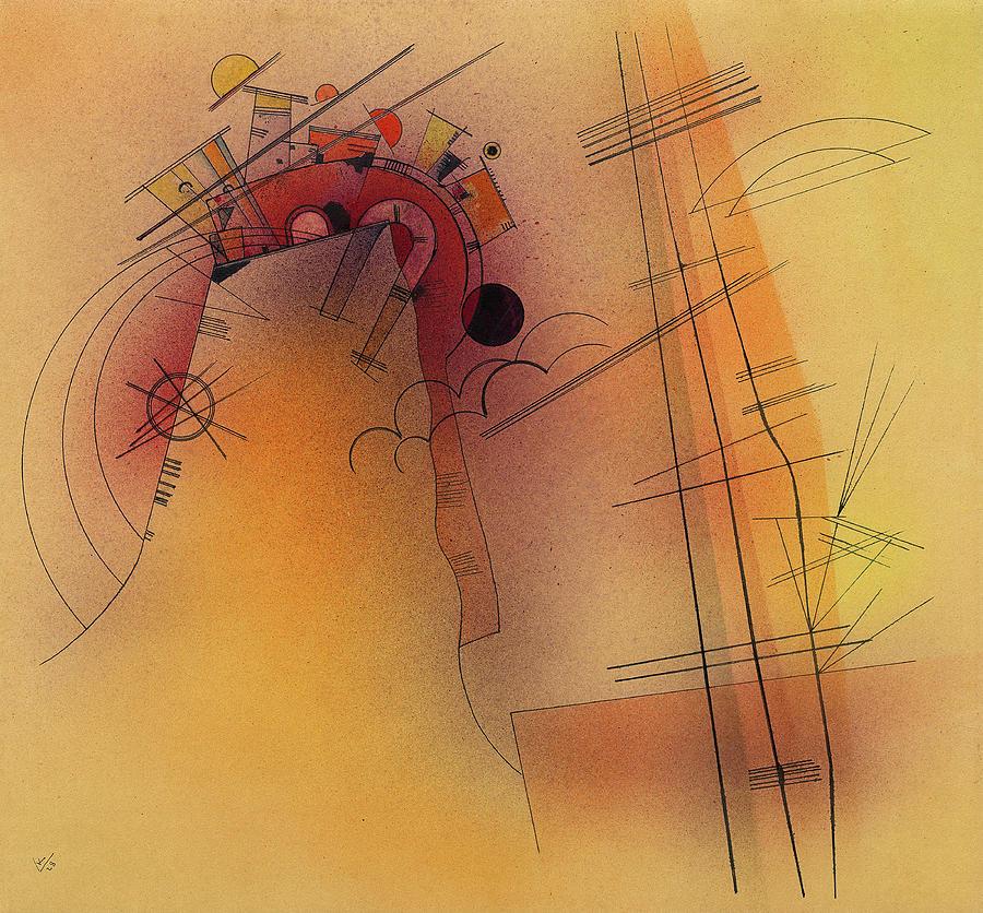 Wassily Kandinsky Painting - Aglow, 1928 by Wassily Kandinsky