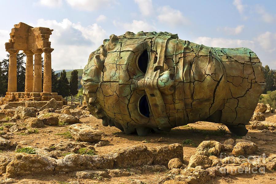 Religious Photograph - Agrigento, Sicily. Famous Valle Dei by Lapas77