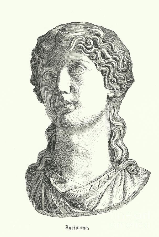 AGRIPPINA /& GERMANICUS PARENTS OF ROMAN EMPEROR CALIGULA PAINTING CANVAS PRINT