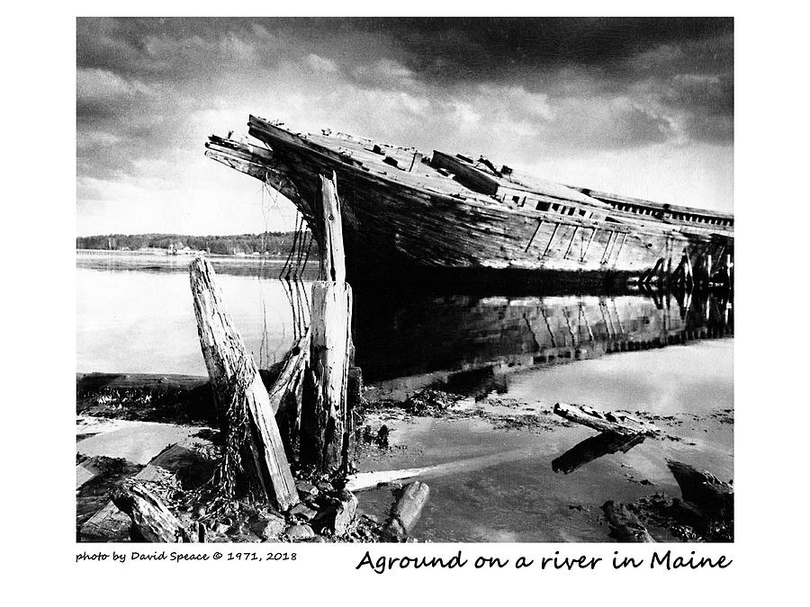 Aground On A River In Maine by David Speace