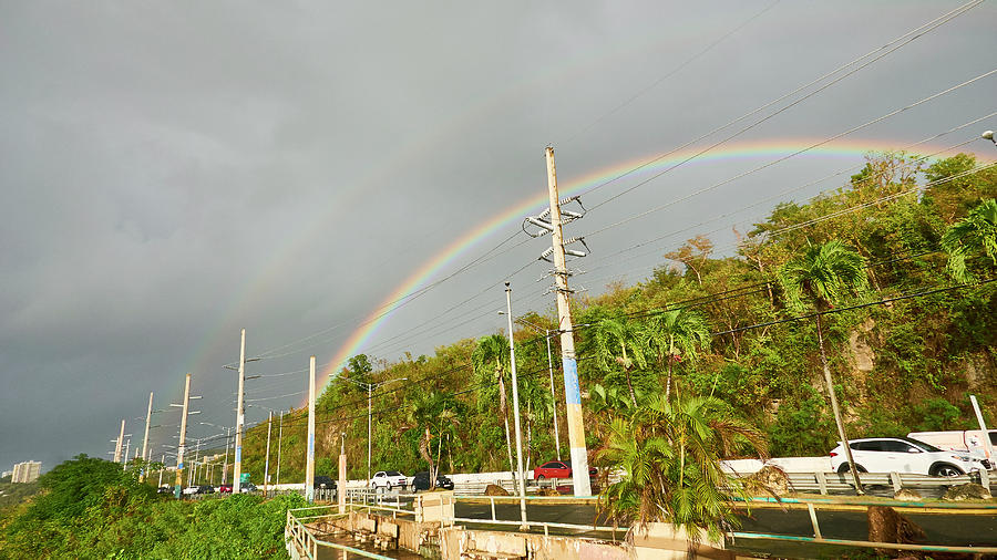 Rainbow Photograph - Aguadilla Rainbow by Charles Quiles