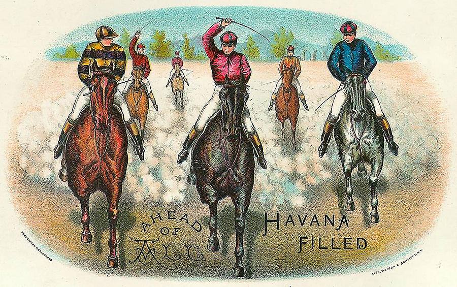 Ahead Of All Vintage Horse Racing  by Vintage Horse Racing Lithographs Gallery