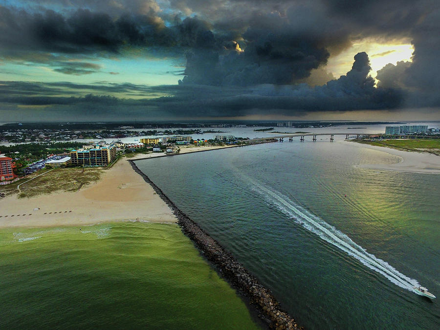 Ahead of the Storms at Perdido Pass by Michael Thomas