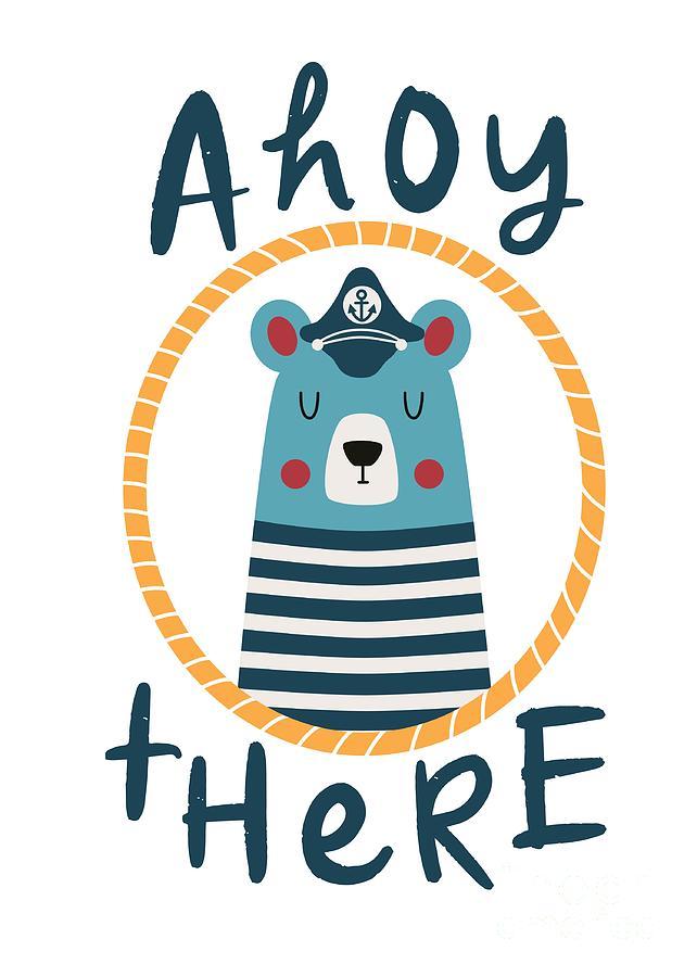 Ahoy There Blue Sailor Bear by Namibear
