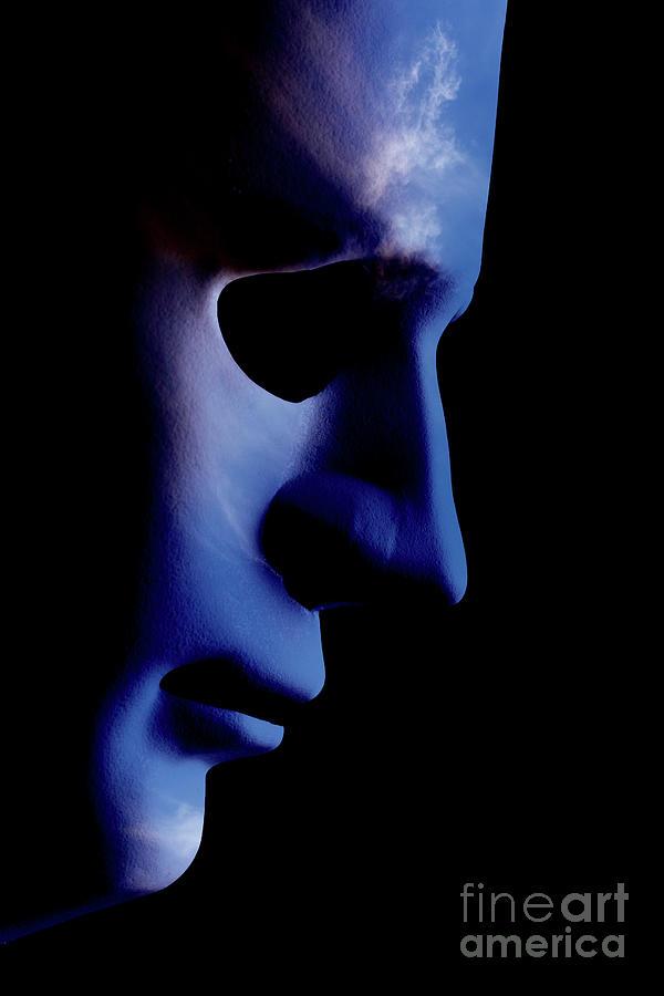 Ai Robotic Face Profile Close Up Cloud Skin Photograph By Simon Bratt Photography Lrps