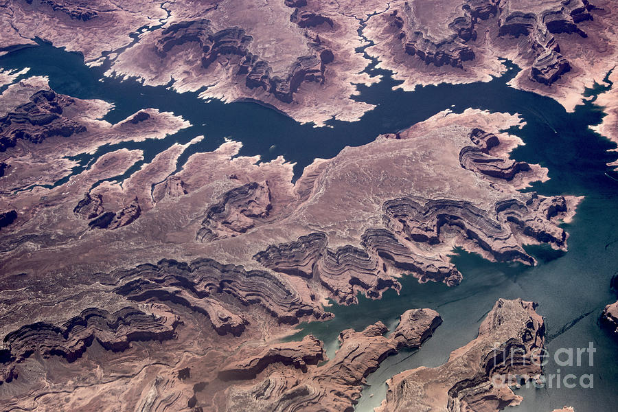 Lake Powell Photograph - Air View Of The Colorado River by Mae Wertz