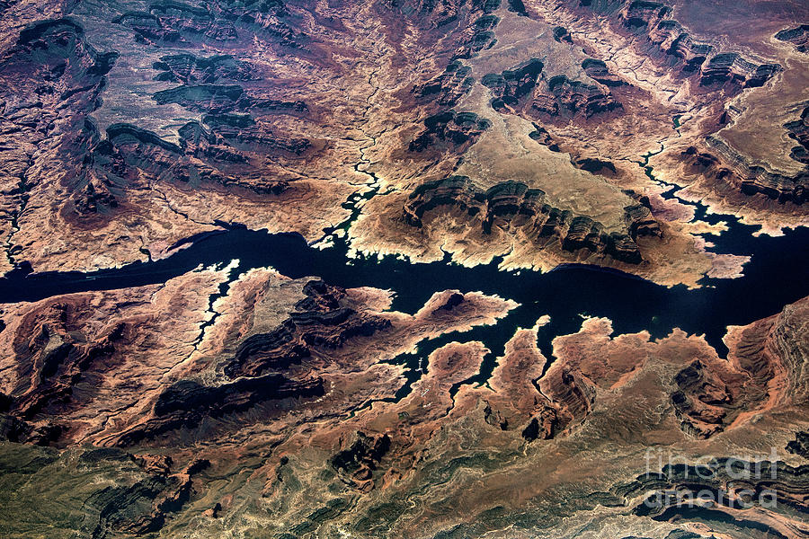 Grand Canyon Photograph - Air View Of The Grand Canyon by Mae Wertz