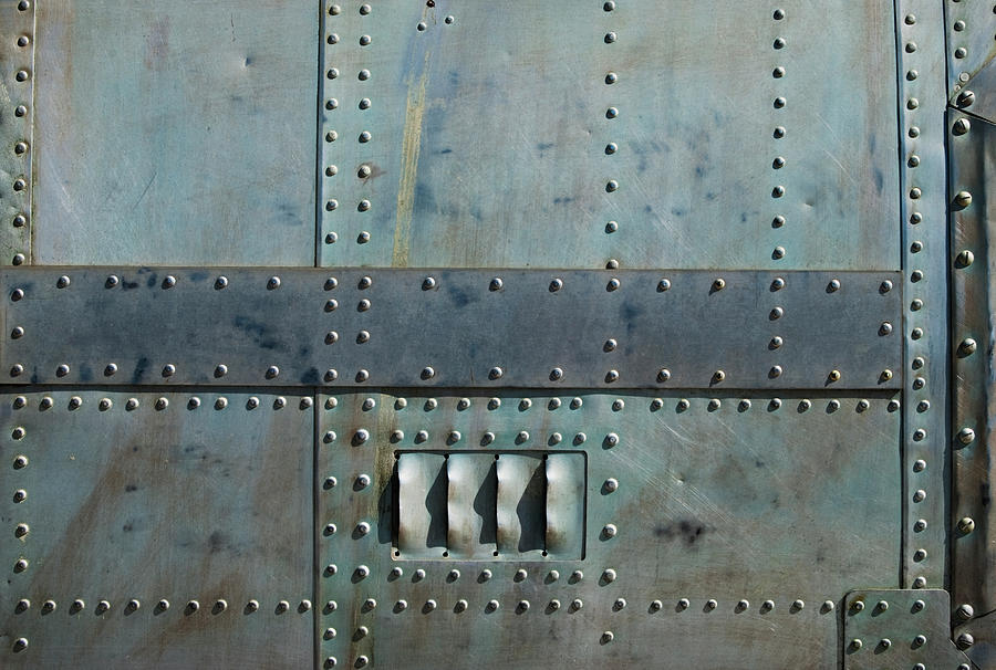 Aircraft Siding With Rivets Photograph by Phleum