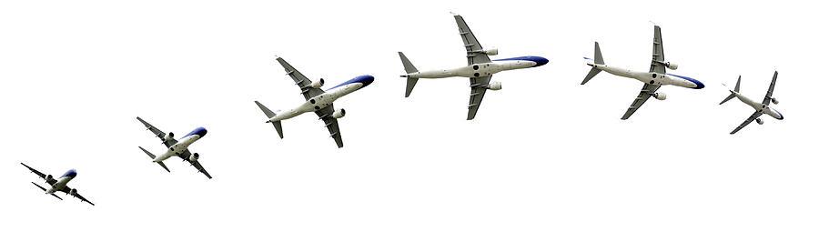 Airplane Flight Detalis In Paths Photograph by Adrian Hancu
