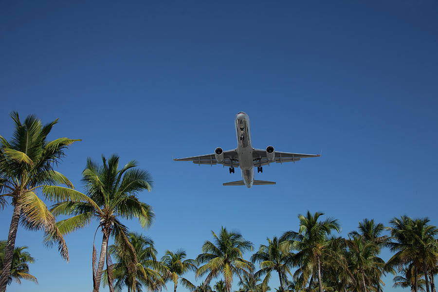 Airplane Landing In Miami Photograph by Buena Vista Images