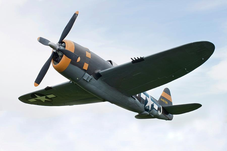 Airplane P-47 Thunderbolt From World Photograph by Okrad