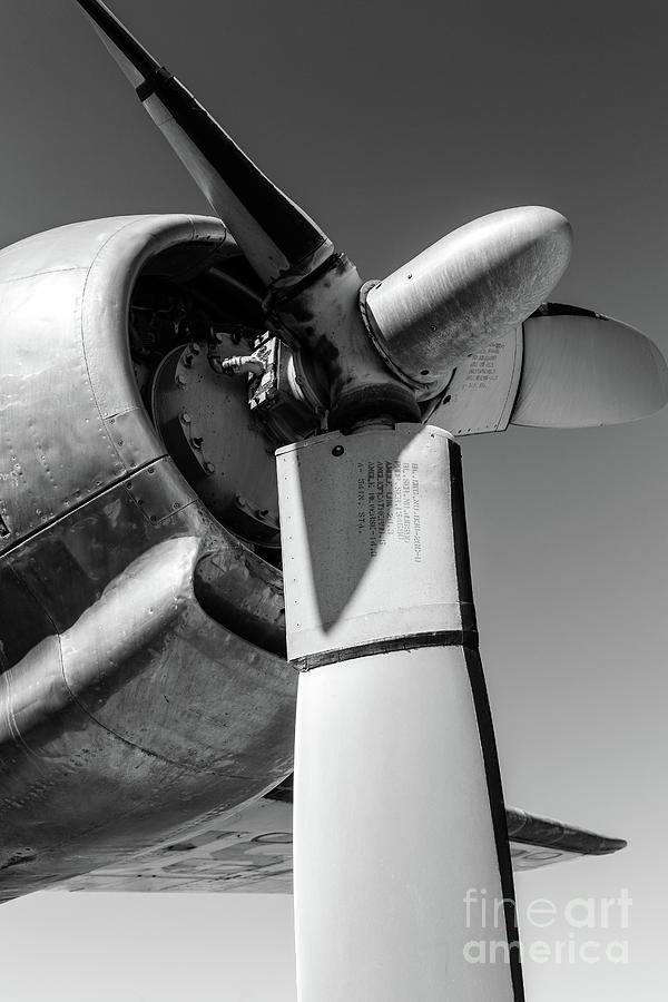 Air Force Photograph - Airplane Propeller by Edward Fielding