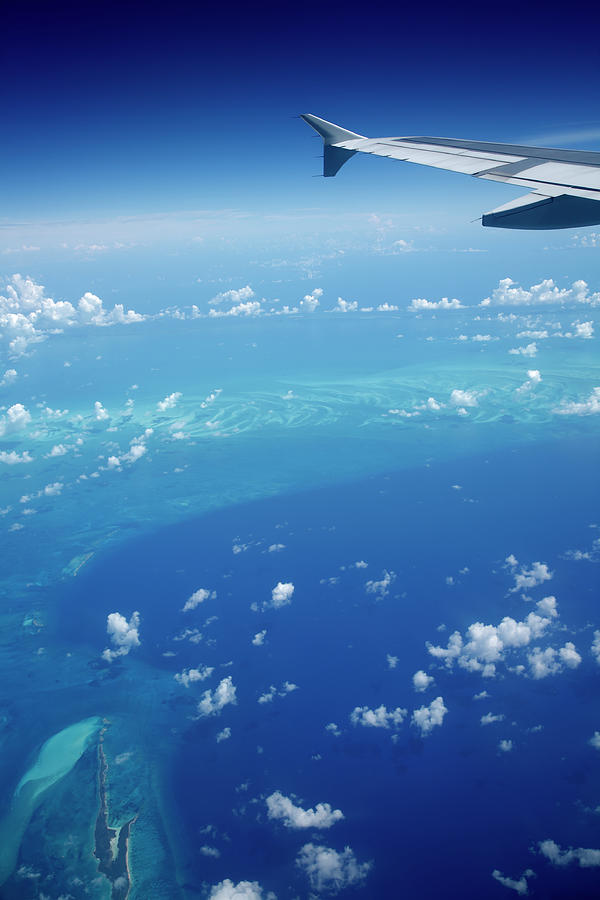 Airplane View Of The Caribbean Photograph by Cdwheatley