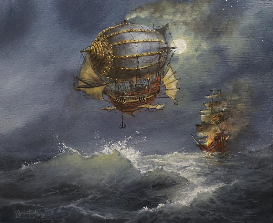 Airship Attack by Tom Shropshire