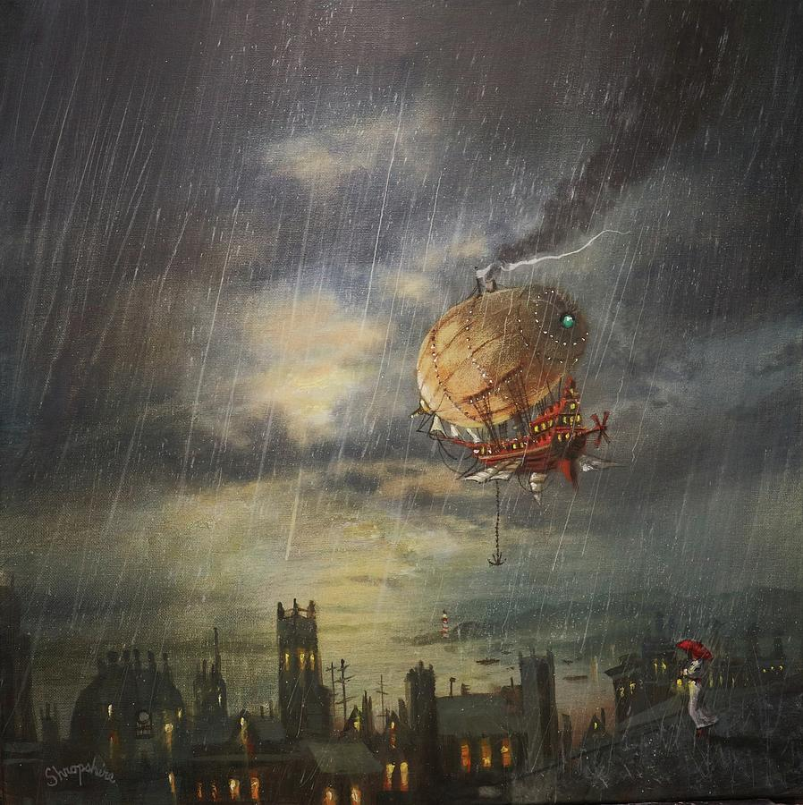 Airship In The Rain by Tom Shropshire