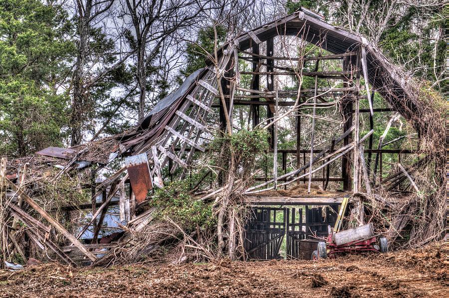 Airy Barn in Great Need of Repair by Douglas Barnett