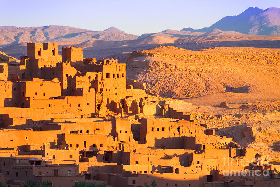 Oasis Photograph - Ait Benhaddou,fortified City, Kasbah Or by Matej Kastelic