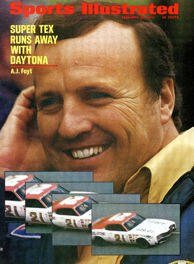 A.j. Foyt, 1972 Daytona 500 Sports Illustrated Cover Photograph by Sports Illustrated