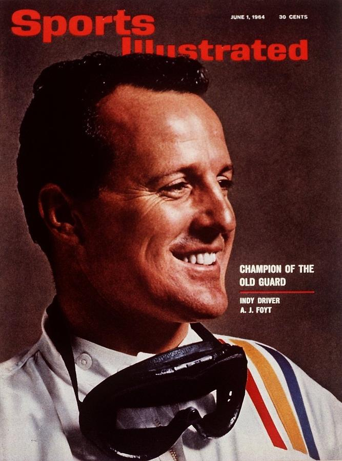 A.j. Foyt, Indy Car Champion Driver Sports Illustrated Cover Photograph by Sports Illustrated