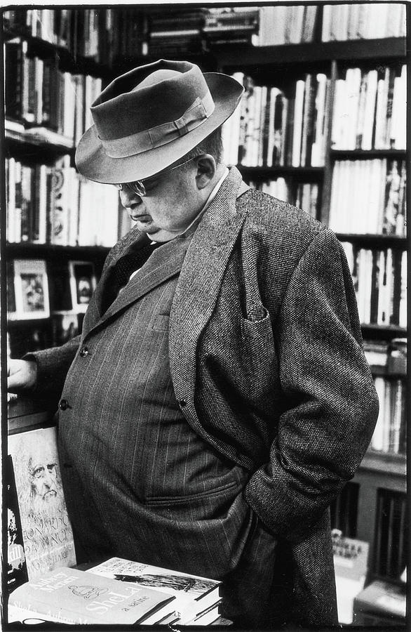 A.j. Liebling Shops For Books Photograph by Fred W. McDarrah