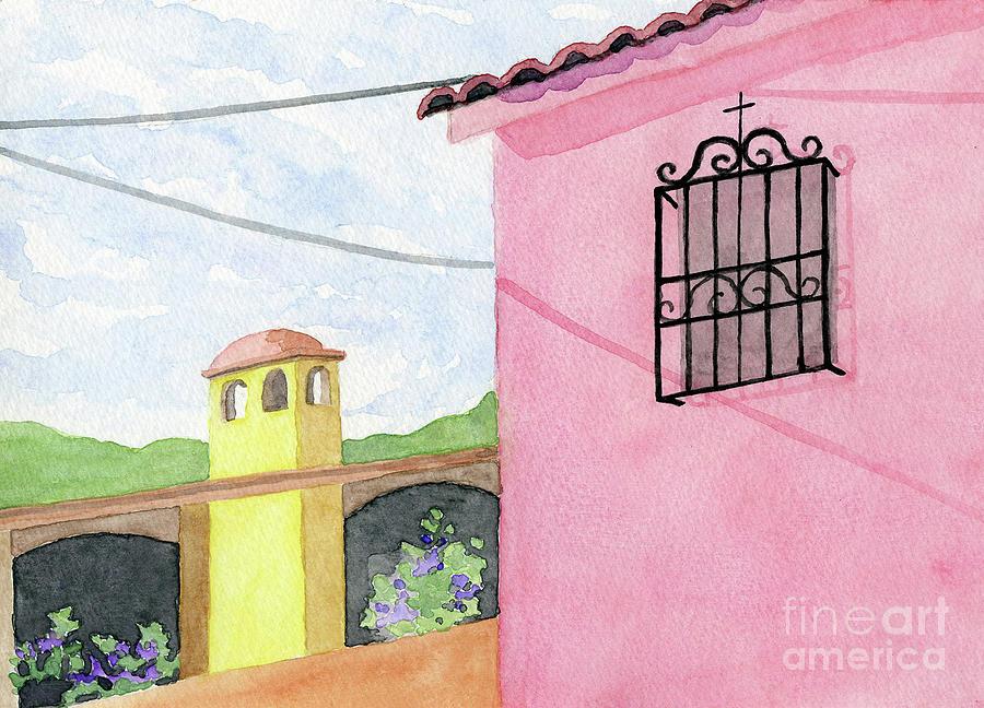 Ajijic Pink House by Anne Marie Brown