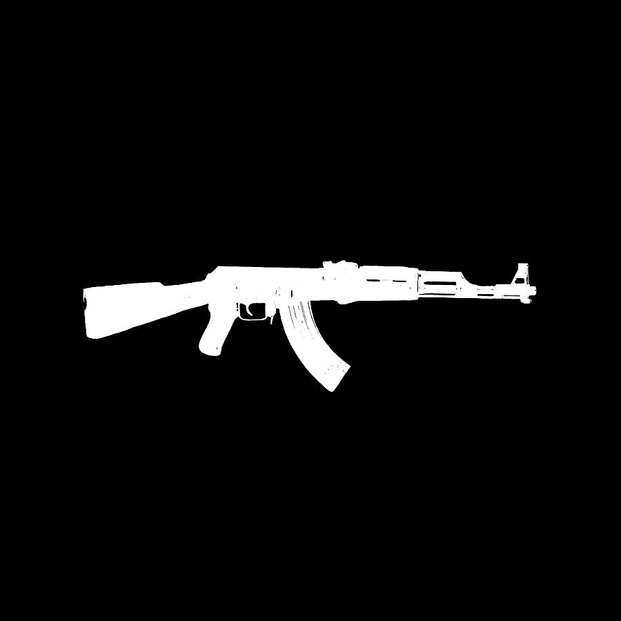 2nd Digital Art - Ak-47  by Jared Davies