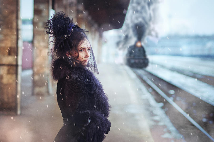 Train Photograph - A.karenina by Sergey Parishkov
