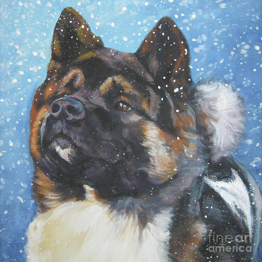 Akita Painting - Akita Dog Art by Lee Ann Shepard