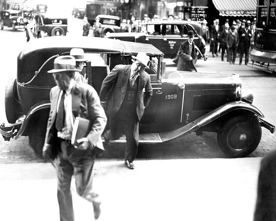 Al Capone Leaving A Taxi Outside The Photograph by New York Daily News Archive
